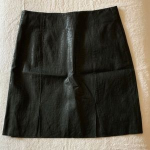 1.State Black Pleather Skirt with front slits